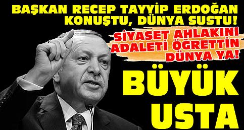 Erdoğan konuştu, Dünya sustu