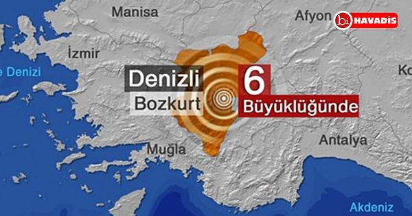 Denizli'de 6,0 büyüklüğünde deprem