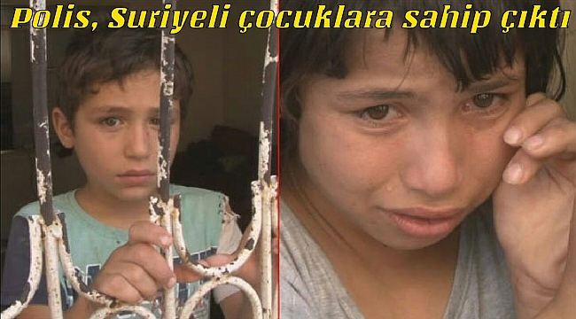 Adana'da anne ve babaları tarafından yalnız bırakılan Suriyeli 4 kardeşe, polis sahip çıktı.