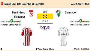 DEMİR GRUP SİVASSPOR 0 - BURSASPOR 0