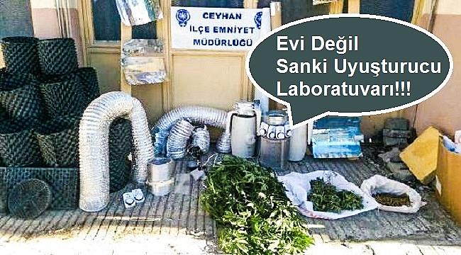 Evi Değil Sanki Uyuşturucu Laboratuvarı!