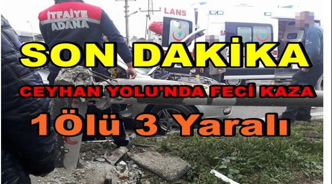 Adana Ceyhan Yolu'nda Ölümlü Kaza.