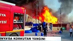 Flaş: Konya'da Korkutan Yangın!