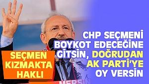 Kılıçdaroğlu: CHP'li seçmene doğrudan AK Parti'ye oy versin