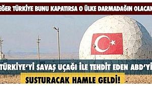 Türkiye savaş uçağı ile tehdit eden ABD'yi köşeye sıkıştıracak adım