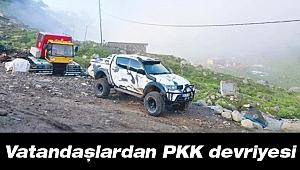 Vatandaşlardan PKK devriyesi