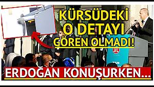 Erdoğan Almanya'da Konuşurken Kürsüdeki O Detay...