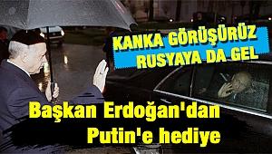 Başkan Erdoğan'dan Putin'e anlamlı hediye ve hoş muhabbet