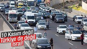 İsrail'de sirenli saygı duruşu