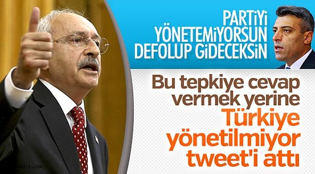 Partisini yönetemeyen Kılıçdaroğlu hükümeti eleştirmeye kalkıyor
