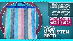 Plastik poşete ücret getiren yasa TBMM'den geçti
