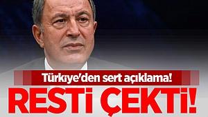 Türkiye'den sert açıklama! Resti çekti