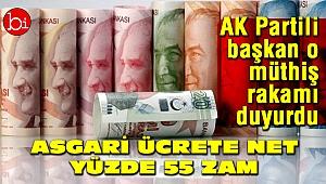Asgari ücrete net yüzde 55 zam