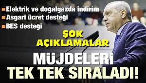 Erdoğan, müjdeleri peş peşe sıraladı şok açıklamalar