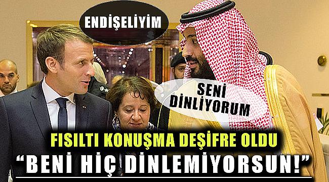 Macron Prens Selman'a Sitem Etti