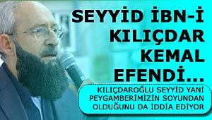 Selmanoğlu yazdı; Seyyid İbn-i Kılıçdar Kemal Efendi...