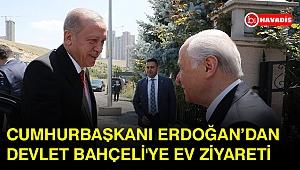 Cumhurbaşkanı Erdoğan Devlet Bahçeli'yi evinde ziyaret etti