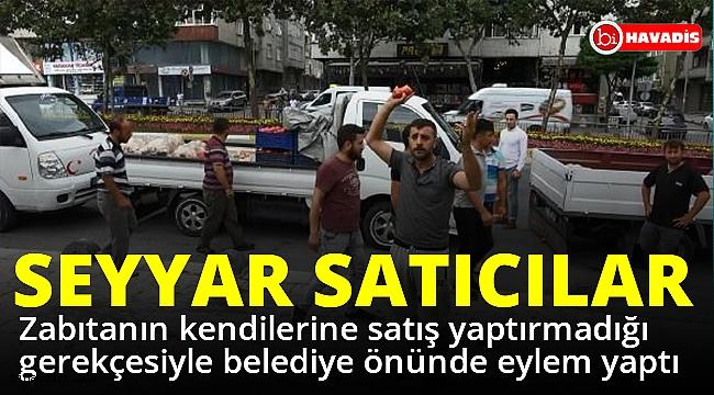 İstanbul'da seyyar satıcılar eylem yaptı