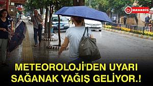 Meteoroloji'den uyarı sağanak yağış geliyor.!