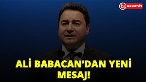 Ali Babacan'dan yeni parti kurma çalışmalarıyla ilgili yeni mesaj!..