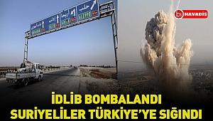 Ateşkese rağmen İdlib bombalandı. Suriyeliler Türkiye'ye sığındı !