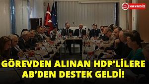 Görevden alınan HDP'lilere AB'den destek geldi!..