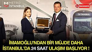 İmamoğlu'ndan İstanbullulara 24 saat ulaşım müjdesi!