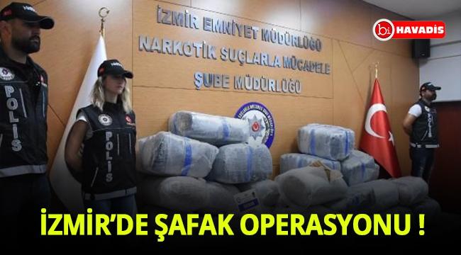 İzmir'de gecekonduya baskın: 600 kilogram skunk ele geçirildi
