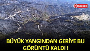 İzmir'deki büyük yangından geriye bu görüntü kaldı