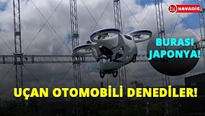 Japonya'da prototip uçan otomobili uçurdular!..
