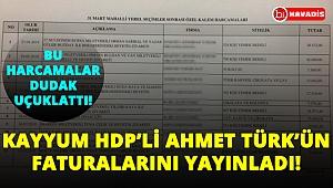 Kayyum faturaları yayınladı! HDP'li Ahmet Türk'ün faturaları dudak uçuklattı!..
