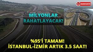 Milyonları rahatlatacak projede son 3 gün! İstanbul-İzmir arası...