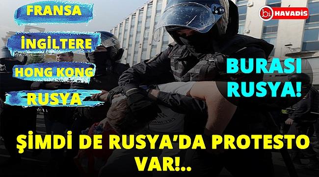 Rusya'da çok sayıda gözaltı var! Protestolar sürüyor!..