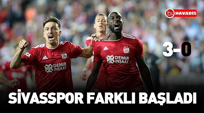 Sivasspor farklı başladı !