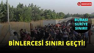 Suriye sınırında bayram göçü! Binlercesi sınırı geçti!..