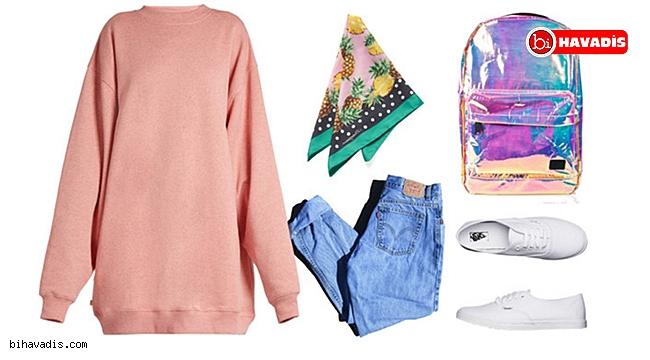 Sweatshirt Kadın Giyim Kombinleri