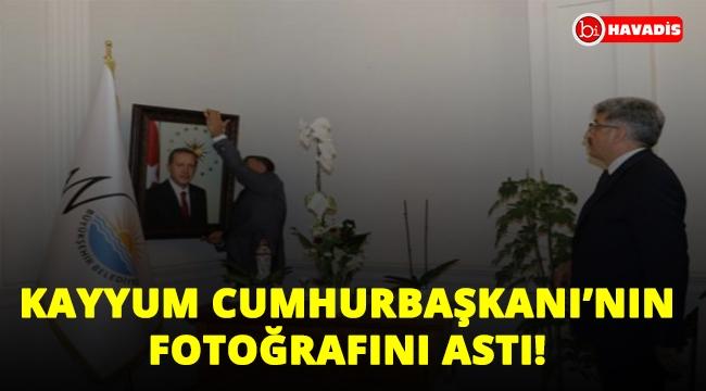 Van'da kayyum Cumhurbaşkanı'nın fotoğrafını astı!..