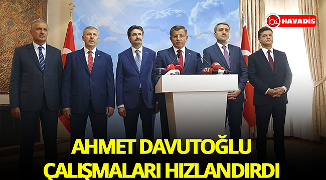 Ahmet Davutoğlu yeni parti için çalışmaları hızlandırdı