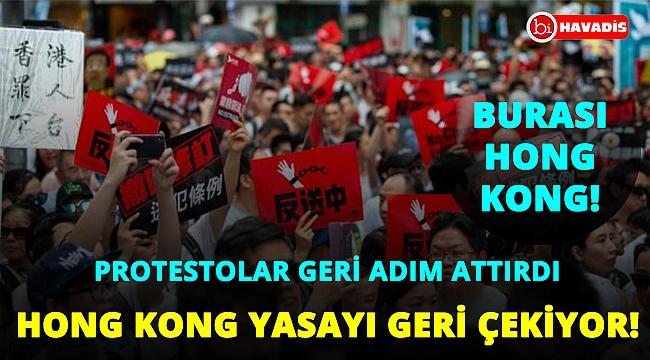 Aylardır süren protesto Hong Kong yönetimine geri adım attırdı! Yasa geri çekiliyor!..