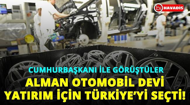 Cumhurbaşkanı Erdoğan'la görüştüler. Alman otomobil devi yatırım için Türkiye'yi seçti!..