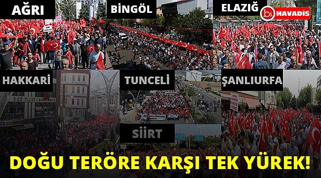 Doğu illerinde teröre tepki yürüyüşleri düzenlendi!..