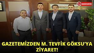 Gazetemiz Esenler Belediye Başkanı ve İBB Ak Parti Grup Sözcüsü M. Tevfik Göksu'yu ziyaret etti!..