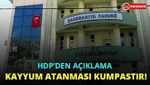 HDP'den Kulp Belediyesi ile ilgili açıklama: Kayyum atanması kumpastır!...
