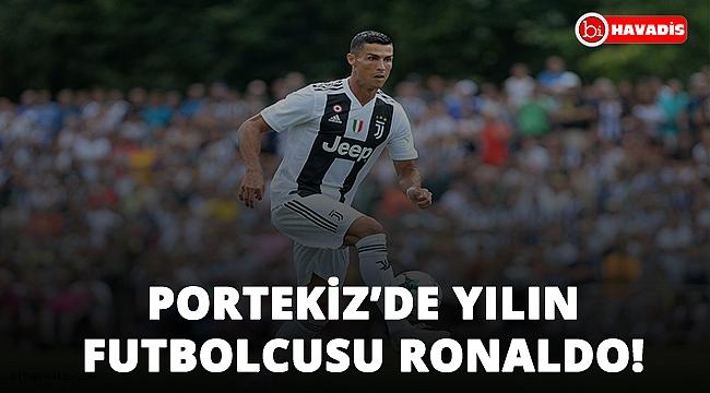 Portekiz'de yılın futbolcusu Cristiano Ronaldo!..
