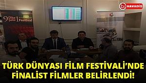 TÜRK DÜNYASI 4. ULUSLARARASI BELGESEL FİLM FESTİVALİ'NDE FİNALİST FİLMLER BELİRLENDİ!