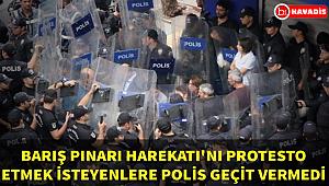Diyarbakır'da Barış Pınarı Harekatı'nı protesto etmek isteyen eylemcilerr polis engeli!..