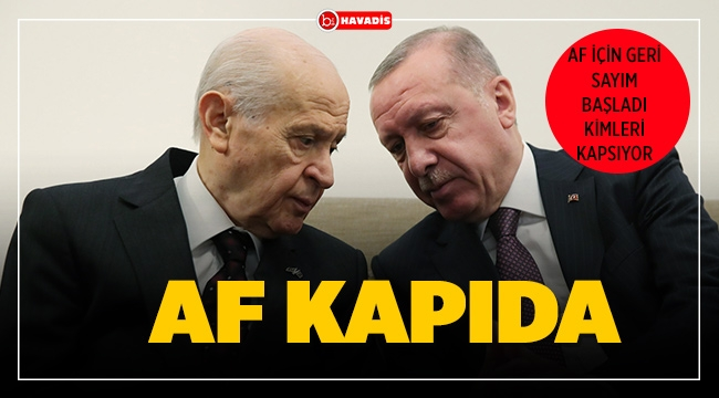 Beklenen Af Yasası Açıklaması MHP lideri Devlet Bahçeli tarafından yapıldı.