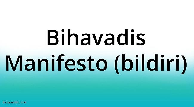 Bihavadis Manifesto (bildiri)