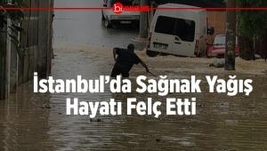 İstanbul Sağnak Yağışa Teslim