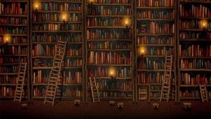 Bir kitap yığını değildir kütüphane, inşa edilmiş bir hayattır